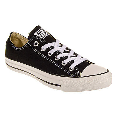 Converse Ox Low Top All Star Chucks Black & White Mens Womens Shoes All Sizes