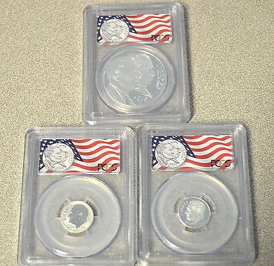 2015 March of Dimes 3 Coin Commemorative Silver Proof Set - PCGS PR69DCAM