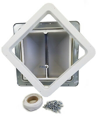 """14"""" RV Roof Vent White Lid non powered w/ Putty butyl TAPE & SCREWS 71111-C-KIT"""