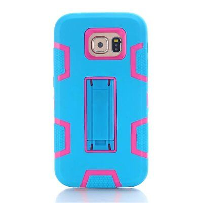 Bocov Blue/Hot Pink Shockproof Tough Stand Hard Cover Case For Samsung Galaxy S7