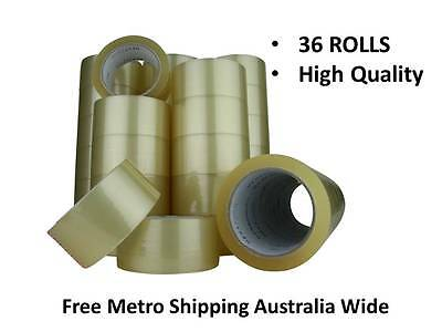 36ROLLS Packaging tape sticky tape clear box carton 75mx48mm