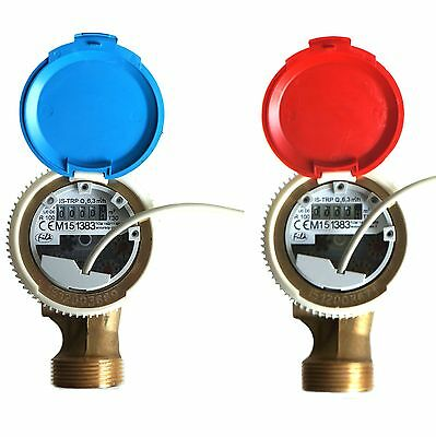"""1"""" FERRO SMART WATER METER WITH REED SWITCH PULSE EMITTER  6.3m3/h ANTIMAGNETIC"""