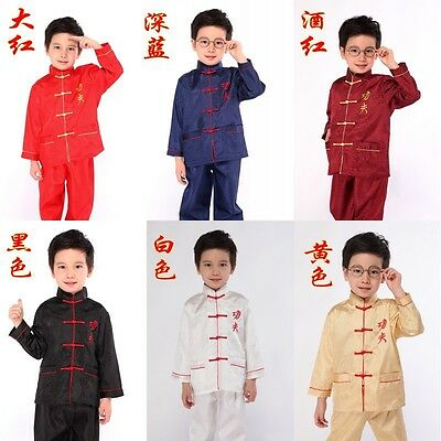 """Lovely Chinese Embroider Dragon/""""Sets Clothing For Kids And Boys 2-4-6-8-10-12-14"""