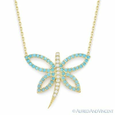 Dragonfly Charm Nano Crystal & CZ .925 Sterling Silver Pendant & Chain Necklace