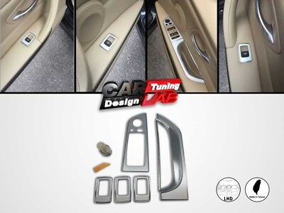 Interior Door Handle Power Window Switch Overlay Cover Set LHD For BMW E90 E91