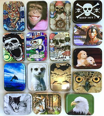 2 Oz Tobacco Tin,pill Tin,bait Tin,sewing Tin,baccy Tin, Stash Can Design Choice