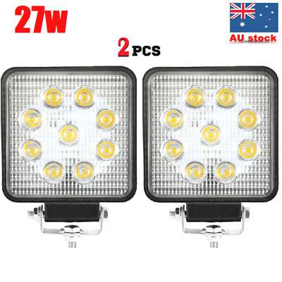 2x 27W CREE LED WORK LIGHT DRIVING FLOOD LIGHT BAR AUTO LAMP-*Thickness 55mm*