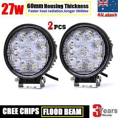 2x 27W CREE LED WORK LIGHT DRIVING FLOOD LIGHT BAR SUV LAMP-*Thickness 60mm*