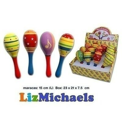 Fun Factory 2-Pack Coloured Maracas Childrens Kids Toy Musical Instrument Shaker