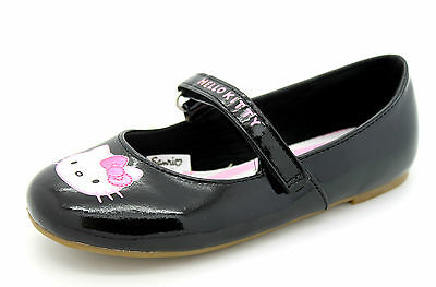 7aed4c594 Hello Kitty Infant Girls Kids Black Mary Jane Teachers Pet Touch Riptape  Shoes