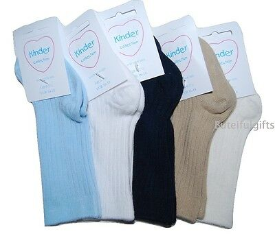Boy Girl Spanish Style 3/4 Ribbed Long Sock 0-2 - 9-12 *One Supplied* Knee High
