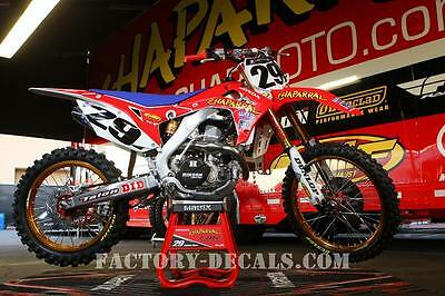 Honda Chaparral crf cr 125 250 450 Graphics Decals any year 1990-present