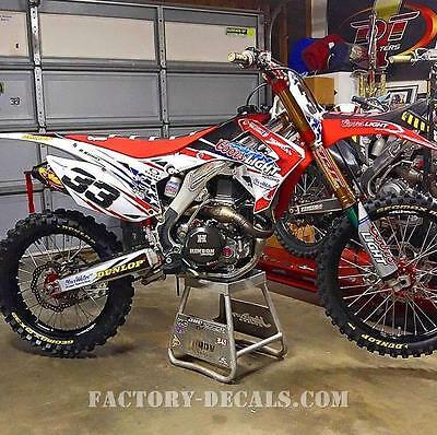 Honda Coors crf cr 125 250 450 Graphics Decals any year 1990-present