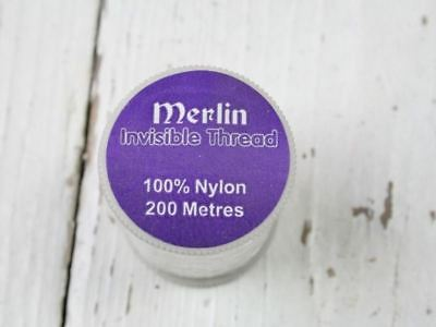 Merlin Invisible Thread, Sewing, Mending, 200m, Clear, Magic Nylon Thread