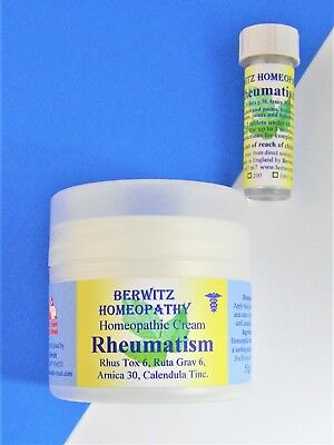 HOMEOPATHIC RHEUMATISM CREAM Relieves Muscular & Rheumatic Aches & Pains. 50g