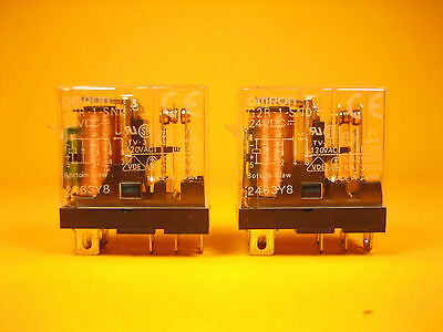 Omron  G2R-2-SND-DC24(S)  Lot of 2