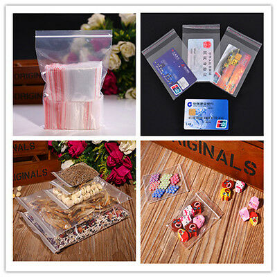 Ziplock & Self Adhesive Reclosable Clear Plastic Bags For Beads Jewelry Choose