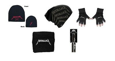 METALLICA - OFFICIAL BEANIE HAT / SKI HAT slouch hat GLOVES sweatband WRISTBAND
