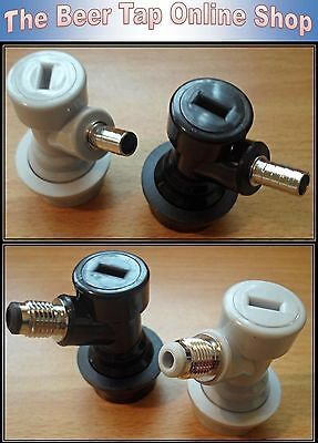 Corny/Cornelius Keg Grey Gas in & Black Liquid out Ball Lock Disconnect Couplers