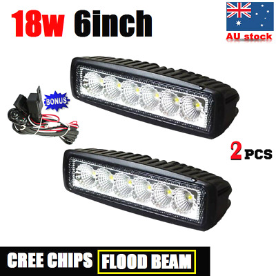 "Pair 18W 6"" LED WORK LIGHT OFF ROAD FLOOD DRIVING BAR CAR AUTO MOTORCYCLE LAMP"