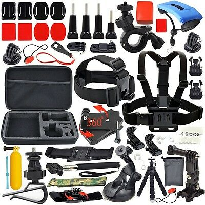 GoPro Accessories Outdoor Sports Bundle Kit for GoPro Hero 4/3+/3/2/1 Cameras E1