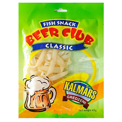 BEER CLUB Dried Fish Snack Classic Squid Rings 43g 1.5oz