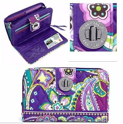 NEW Vera Bradley Turn Lock Wallet in Heather.  Retail $49 FAST SHIPPING