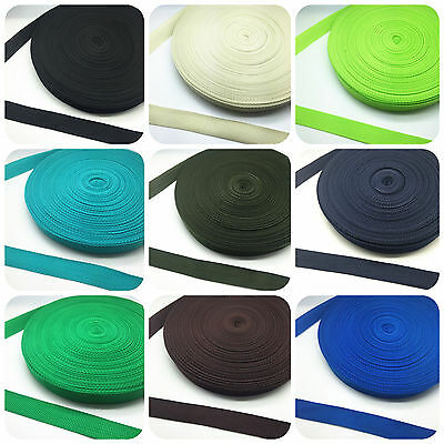 New 2/5/10/50 Yards 20mm/25mm Width Nylon Webbing Strapping  21 Color Pick