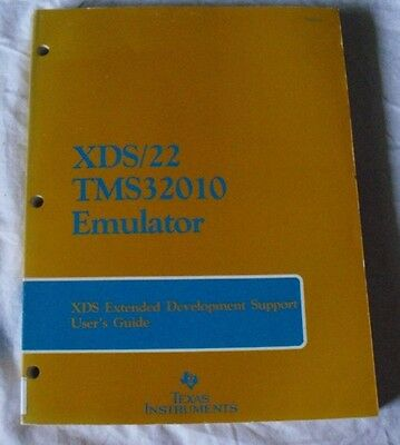 Book Texas Instruments Tms32010 Xds/22 Emulator Development Support Users Guide