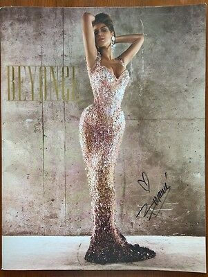 Beyoncé AUTOGRAPHED - rare giant size tour book - 15 inches tall!