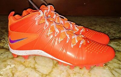 NIKE Huarache LAX 4 LE Mid ORANGE Molded TD Lacrosse Football Cleats NEW Mens 13
