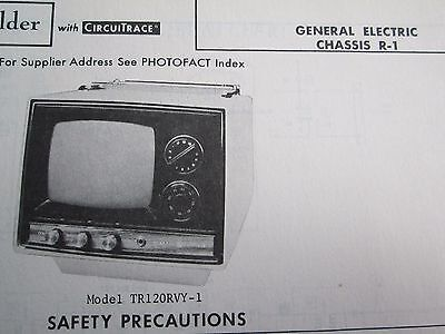 GENERAL ELECTRIC TR120RVY-1 (Chassis R-1 ) MINI TELEVISION TV PHOTOFACT
