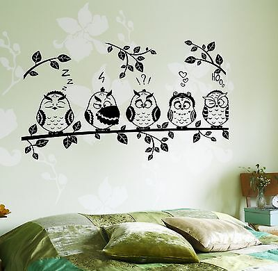 wall decal owls, tree for kids, baby. Kids wall decal sticker. Large Disney Art