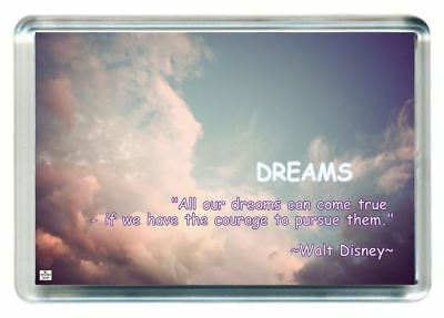 Dream Can Come True With Courage Walt Disney Quotes Saying Gift Fridge Magnet