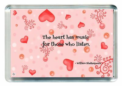 Fridge Magnet William Shakespeare Quote Saying Heart Has Music Those Listen Hear