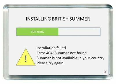 Install British Summer Weather Fail Upload Found Quote Saying Gift Fridge Magnet