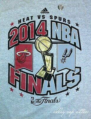 Adidas 2014 NBA Finals Miami Heat VS San Antonio Spurs Roster T-Shirt