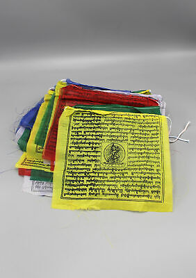 PF13B Tibetan Green Tara Prayer Flags-Handmade in Nepal