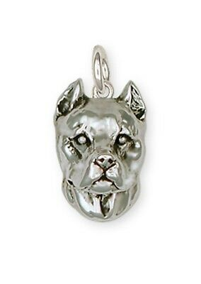 Pit Bull Charm Jewelry Sterling Silver  PAS2-C