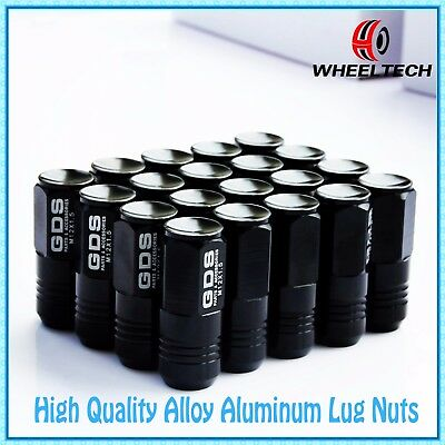 20pcs Black 50mm Closed End Alu Wheel Lug Nuts M12X1.5 Honda Civic Acura Integra