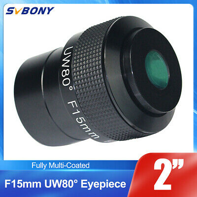 New Fully Multi-Coated F15mm Ultra Wide Angle 80 Degree 2'' Telescope Eyepieces