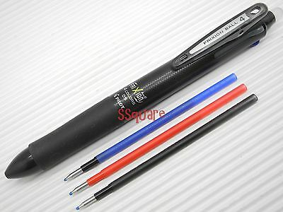 Pilot FriXion Ball 4 0.5mm Multi-Color Erasable Rollerball Gel pen+ 3 Refills, B