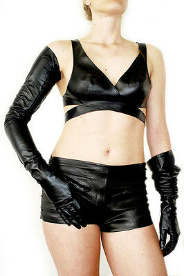 """66cm(26.0"""")winter fashion opera long top Italy lambskin leather shoulder gloves"""