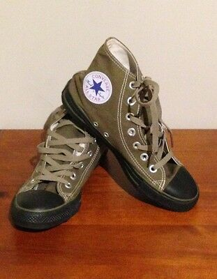 Army Green Converse High Tops Size 5 1/2