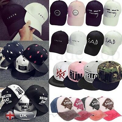 Women Men's Fashion Adjustable Baseball Cap Snapback Hip-hop Hat Flattened Hat