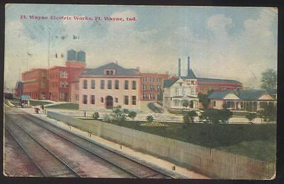 Postcard FT FORT WAYNE Indiana/IN  Electric Works Office & Factory/Plant 1907