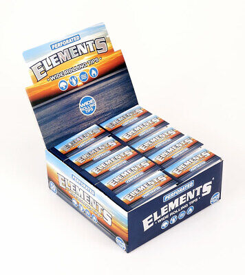 1 Box (50x) Elements Filter Tips wide King Size breite Filtertips unperforiert