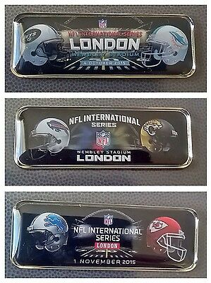 NFL International Series 2015 Wembley London Game Pin Badge