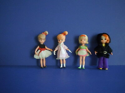 Vintage Set Of 4 Hasbro Dolly Darlings : Cathy Tea Time Party, Shary And Others