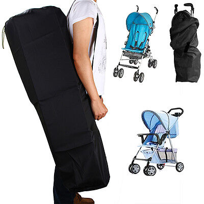 Gate Check Pram Travel Bag Organizer Stroller Pushchair Waterproof Buggy Cover